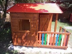 Dětský zahradní domek dřevěný broušeno s nátěrem pro děti dětské SMART ZD zahradní dřevěný domeček pro děti Čsn En 1176 pro obce školy mateřské školky  veřejná hřiště na zahradu