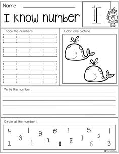 Free Number Practice Printables by The Kiddie Class Numbers Preschool, Learning Numbers, Writing Numbers, Preschool Math, Number Writing Practice, Preschool Number Worksheets, Math 2, Phonics Worksheets, Worksheets For Kids