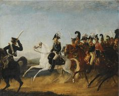 Titre de l'image :  Artiste inconnu - Alexander I of Russia accompanied by his staff