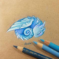 """Polubienia: 2,387, komentarze: 36 – Alvia (@alviaalcedo) na Instagramie: """"A little air dragon  #dragon #dragons"""""""