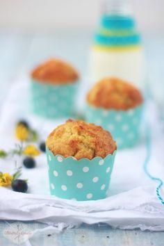 Muffinki cytrynowe z borówkami / Lemon muffins with cranberries