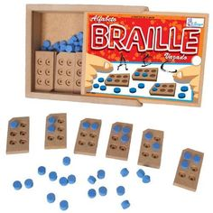 Another fun way to play with braille Visually Impaired Activities, Braille Reader, Teaching Career, Educational Technology, Assistive Technology, Early Literacy, School Projects, Special Education, Learning Activities