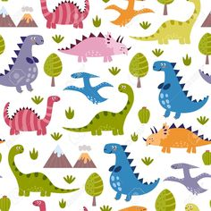 Cute Dinosaur Pattern wall mural from Murals Your Way will add a distinctive touch to any room. Kids Vector, Vector Free, Vector Graphics, Foto Iman, Dinosaur Light, Cute Wallpapers For Ipad, Murals Your Way, Dinosaur Nursery, Dinosaur Pattern