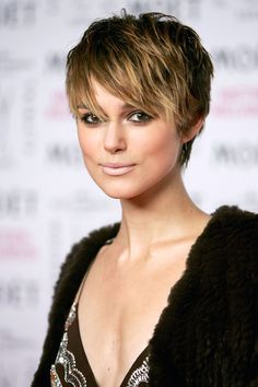 Keira Knightley is looking #fierce with her short hair here #celebrityhair