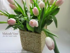 Matzah Vase, LOVE!!! by @Rita from designmegillah Design Megillah
