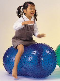 Our Sensory Peanut Ball provides stability, comfort and confidence for therapy.  http://blossomforchildren.co.uk/mobility/230-sensory-peanut-ball.html