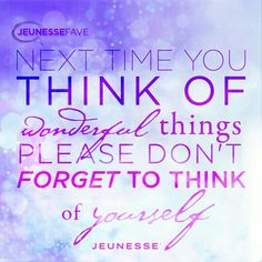 Jeunesse combines breakthrough sciences in a product system that enhances youth by working at the cellular level. By focusing on the health, longevity, and renewal of cells, we help people enjoy vibrant, youthful results that last.  Order your products today for a younger looking, healthier you!! http://www.vickywatkinson.jeunesseglobal.com