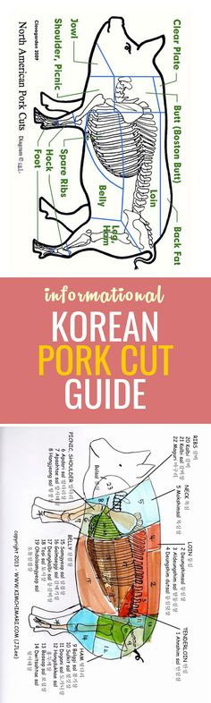 Korean pork cuts can be confusing. This informational guide will help you at the butchers shop!