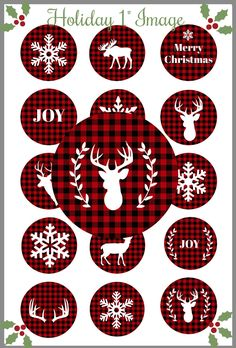 Excited to share the latest addition to my shop: Christmas Bottle Cap Image /Buffalo Plaid Christmas / Lumberjack Christmas / 1 inch circle. Christmas Quotes, Diy Christmas Ornaments, Christmas Pictures, Christmas Wreaths, Christmas Crafts, Christmas Decorations, Christmas Ideas, Christmas Inspiration, Homemade Decorations