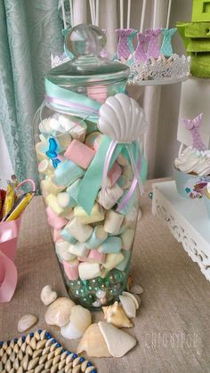 Mermaids under the sea Birthday Party Ideas | Photo 2 of 16 | Catch My Party