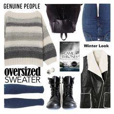 """""""GEEK CHIC: Sweater and Jeans Winter Looks"""" by the-reluctant-dragon ❤ liked on Polyvore featuring women's clothing, women's fashion, women, female, woman, misses, juniors and Genuine_People"""