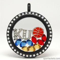 Kansas Jayhawks college basketball locket necklace – SportLockets.com