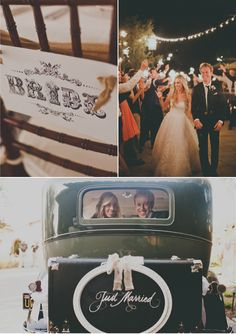 ahhh the car, the lights, the photography I love everything about this wedding