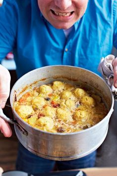 humble chicken stew & dumplings | Jamie Oliver - needs more stock before putting in the oven. I put in a litre but by the time it came out of the 30 mins on the oven it had dried out and there was no gravy. It was still tasty though.