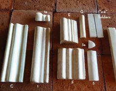 Tabarka- Trims : Handmade Moulding Molding Cap Trim Tile from the artisans at Tabarka