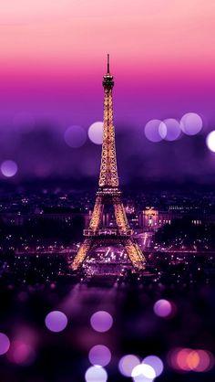 Tour Eiffel (Paris) + Bokeh + Purple + Warmth - Arnaud Hayaert - My Pin Iphone 5 Wallpaper, Cool Wallpaper, Wallpaper Backgrounds, Travel Wallpaper, Bokeh Wallpaper, Iphone Pics, Mobile Wallpaper, Wallpapers Android, Nature Wallpaper