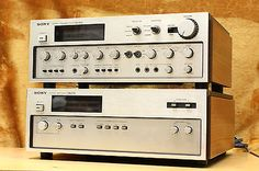 SONY TAE-8450 PreAmp & TAN-8250 Power Amp - 1975