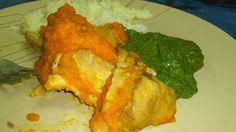 Receitas da Carlita: Pá de porco na varoma com molho de cenoura esparregado de nabiças e arroz branco
