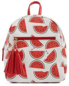 eb8f49e036 Girl s Deb  amp  Dave Accessories Watermelon Print Mini Backpack - White  Cute Mini Backpacks