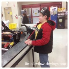 A Grocery Lesson - Teach your kids to grocery shop on a budget.