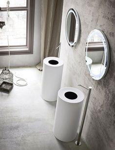 Bathroom - zylindrische form waschbecken kollektion design modern möbel