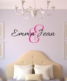 Black & Pink Fancy Personalized Decal #zulily #zulilyfinds