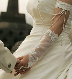 結婚 ドレス ウエディング オーダー フィンガーレスグローブ