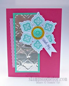 Mozaic Madness Stampin' Up! stamp set.  http://www.stampstodiefor.com/patstamps/2013/07/stampin-up-mosaic-madness-birthday-card.html