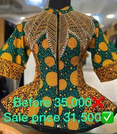 Latest African Fashion Dresses, African Dresses For Women, African Print Fashion, African Wear, African Attire, Ankara Blouse, Crochet Baby Dress Pattern, African Blouses, Stylish Dress Designs