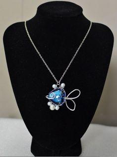 The DIY Bijoux Tutorial on Making a Handmade Blue Fish Pendant Necklace | Jewelry Pinn