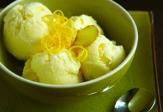 Ginger Lemon Ice Cream 02 by MeetaK Ginger Ice Cream, Lemon Ice Cream, Sweets Recipes, Desserts, Cold Ice, Best Party Food, Whats For Lunch, Summer Treats, Fresh Ginger