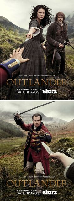 We're obsessed with these new Outlander posters!