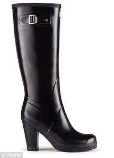 lonny high heel tall boots  hunter boots boots high heels