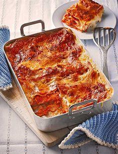 Vegetarische Lasagne al Forno mit Soja und Tomaten