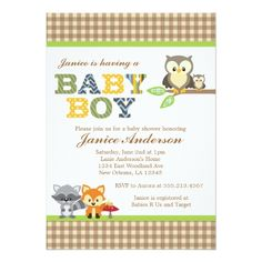 Woodland Owl Child Bathe invitation Boy. >>> Have a look at even more by visiting the photo
