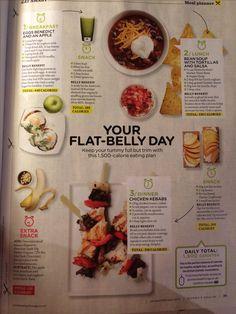 Women's Health - Flat belly day diet plan