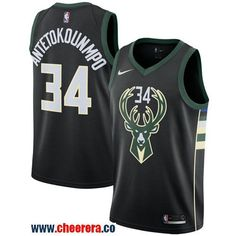 74d6d3a62c1 Men s Nike Milwaukee Bucks  34 Giannis Antetokounmpo Black NBA Swingman  Statement Edition Jersey Sports Basketball