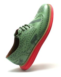 """Cole Haan Lunargrand Wingtip restoration by """"customizer"""" Customs by Revive"""
