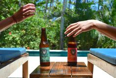 Relaxing in paradise is always better with a locally crafted Surf Monkey Beer.