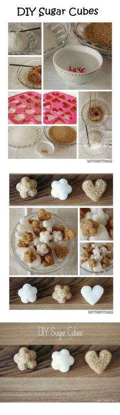DIY Sugar Cubes Pour about cup of sugar into a bowl. Use a teaspoon to pour… Sugar Cubes, Cute Food, High Tea, Diy Food, Afternoon Tea, Party Planning, Tea Time, Party Time, Tea Party