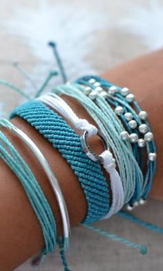 Teal and Turquoise Bracelets from Pura Vida Bracelets!