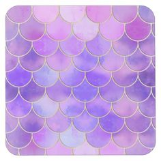 Ultra Violet & Gold Mermaid Scale Pattern Square Paper Coaster - home gifts ideas decor special unique custom individual customized individualized Mermaid Quilt, Mermaid Fabric, Mermaid Background, Mermaid Wallpapers, Pretty Mermaids, Or Noir, Mermaid Scales, New Wallpaper, Iphone Wallpaper