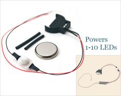 Buy a small battery holder and switch unit for coin cell batteries to power 3V LEDs. Easy to use and perfect for lighting dollhouse miniature scenes and small size projects. Download a free LED lighting tutorial