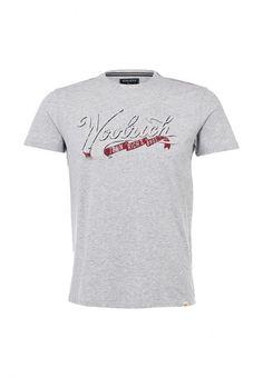 Футболка Woolrich мужская. Цвет: серый. Сезон: Весна-лето 2014. С бесплатной доставкой и примеркой на Lamoda. http://j.mp/1kkuoTb