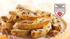 Cranberry Walnut Biscotti - Delicious walnut biscotti that is just right for dunking in your morning latte or hot chocolate. A basket of these twice-baked crisp cookies makes a welcome gift.