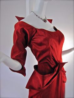Red 1940's Cocktail Dress