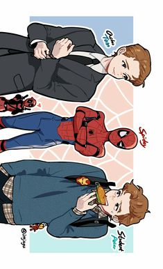 3 Versions of Spiderman || Peter Parker || Deadpool || Cr: Imjayu