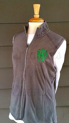 Womens Monogrammed Fleece Vest