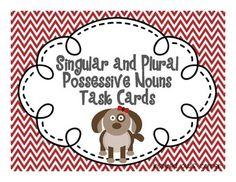 FREE: I created this set as a companion to my Singular and Plural Possessive Nouns-Puppy Centers, Games, and More file. Every year my students get so exc. Second Grade Freebies, 2nd Grade Ela, 4th Grade Writing, Third Grade Reading, Teaching Writing, Fourth Grade, Teaching Ideas, Singular Possessive Nouns, Teaching Language Arts