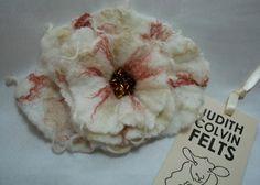 handmade felted flower